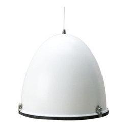 Leitmotiv Cone Industrial Pendant Light in Shiny White - Leitmotiv Cone Industrial Pendant Light in Shiny White