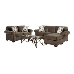 Chelsea Home Furniture - Chelsea Home Worcester 2-Piece Living Room Set Chaise in Elizabeth Ash - Worcester 2-Piece living room set Chaise in Elizabeth Ash belongs to the Chelsea Home Furniture collection .