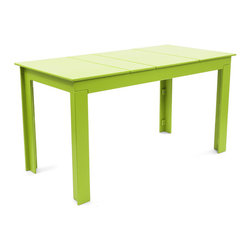 Loll Designs - Lollygagger Picnic Table, Leaf Green - No family would be complete without a place to dine outside. The Lollygagger Picnic Table is a smaller scaled table designed to be simple and clean and functional. It generally works as a magnet to attract loitering family members in groups of four. Pair it with the Lollygagger Bench and _ wah-lah _ dinner is served!