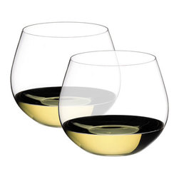 Riedel - Riedel O Oaked Chardonnay Glasses - Set of 2 - Stylish, practical and fun. Riedel O is the original varietal specific wine tumbler. Gift boxed in pairs. non lead, machine made.