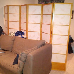 Room Dividers, Folding Screens, Partitions, Decorative Screens, Room Separators - Great way to hide a mess, this guy is not the most tidy, that's why this room divider not only divides a space but can also conceal a bachelor pad mess..