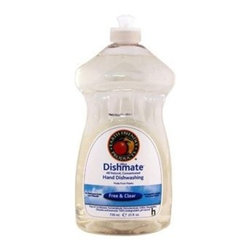 Earth Friendly Dishmate - Free And Clear - Case Of 6 - 25 Fl Oz - Dishmate dish liquid is all natural, and that includes naturally hard on grease and baked-on food without being hard on your skin. You only need a little bit of this concentrated formula to get the job done. Available in Free and Clear scent, Earth Friendly Products uses only plant-based, recycled, animal-friendly materials to make their many useful, environmentally friendly products, which are biodegradable and non-toxic.
