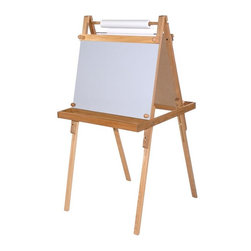 Martin Universal - Martin Universal Childrens Legacy Wood Easel - U-9601 - Shop for Art Easels from Hayneedle.com! The Weber Legacy Family Easel was designed to grow with your family. From preschoolers to young teenagers this easel will keep your children creative. The Family Easel is hand crafted of solid elm for durability and beauty. It is double-sided so two family members can use it at the same time. One side is a classic chalkboard and the other is a dry-erase board. This easel comes complete with a paper roll that dispenses paper smoothly. It is fully adjustable and goes from 47 to 52 inches and features non-skid feet to keep it steady.About Martin Universal Design Inc.Over 40 years ago Dennis Kapp founded Martin Universal Design Inc. which incorporated the wholesale importing and manufacturing of Northwest Blue Print the company Mr. Kapp's father founded in 1946. The Kapp family then purchased a business started by Ray Martin who was the first designer and crafter of drafting templates in the United States. Since then the family has been carrying on the tradition of creating high-quality artist accessories and furniture. Today Martin Universal Design Inc. supplies the art industry with a complete range of quality artist accessories drafting tables materials and tools.