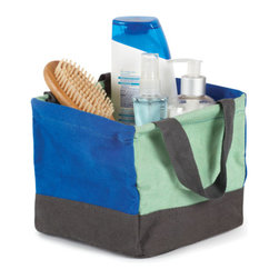 Umbra - Umbra Crunch Mini Tote, Indigo/Mint - Our Crunch Tote from Umbra will carry everything you need from the dorm room to hit the showers. Perfect for carrying shampoo, conditioner, toothbrush, toothpaste and other necessities. This indigo and mint square tote is made of 100% cotton canvas and is lined with laminated polypropylene for easy wipe and clean.