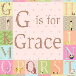 """Oopsy Daisy Canvas Wall Art for Kids Rooms - Meghann O'Hara - """"Classic Alphabet - Girl"""" 18x24 $119 and 24x30 $159"""