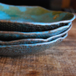 Christiane Sutherland Pottery - Handmade Tableware, plates and Bowls, Functional Ceramics, Personalized, unique, Lead-free glazes and Food-safe! Nature Inspired and Organic Shaped