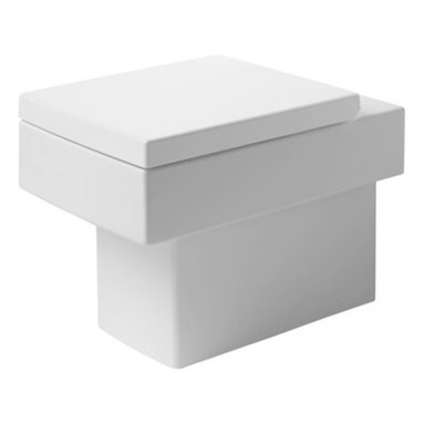 Duravit - Duravit   Vero Floor Standing Toilet - Made in Germany by Duravit.A part of the Vero Collection. The compact design of the Vero Floor Standing Toilet is an excellent choice for bathrooms with limited space. The tailored rectangular shape along with the concealed floor mounted tank gives this toilet its minimalist esthetic. The easy to clean, durable porcelain construction will maintain its modern appeal for years to come. Product Features: