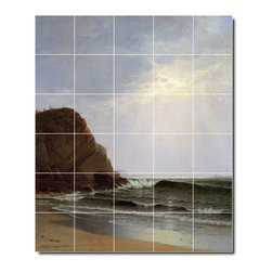 Picture-Tiles, LLC - Otter Cliffs Mount Desert Island Maine Tile Mural By Alfred Bricher - * MURAL SIZE: 72x60 inch tile mural using (30) 12x12 ceramic tiles-satin finish.