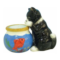 WL - 3 Inch Kitchenware Cat and Fishbowls Salt and Pepper Shakers - This gorgeous 3 Inch Kitchenware Cat and Fishbowls Salt and Pepper Shakers has the finest details and highest quality you will find anywhere! 3 Inch Kitchenware Cat and Fishbowls Salt and Pepper Shakers is truly remarkable.