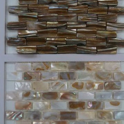 Mother of Pearl Mosaic - Beautiful natural mother-of-pearl mosiac tile that comes in all kinds of shapes and hues!