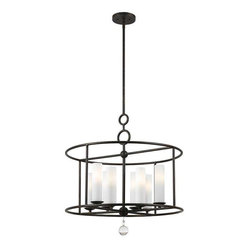 Crystorama Lighting - Crystorama Lighting 9266-EB Cameron Transitional / Eclectic Chandelier - Crystorama Lighting 9266-EB Cameron Transitional / Eclectic Chandelier in English Bronze With Clear Smooth Balls Crystal