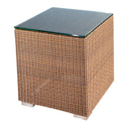 Westminster Teak Furniture - Malaga All Weather Wicker Side Tables - Malaga Luxury Outdoor Furniture is constructed of high quality, All Weather Wicker.  Deep Seating Cushions included.