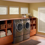 """Bali® Wood Images 2 1/2"""" Faux Wood Blinds - Capture the look and feel of real wood blinds with the added benefits of Faux Wood blinds.  Bali faux wood blinds give the essence and look or real wood blinds but are more durable and moisture resistant.  Great for households with animals and small children, faux wood blinds are sure to outlast your average wood blinds.  Also, consider faux wood blinds for high humidity areas in the household like bathrooms and kitchens to prevent molding.  Bali wood images come is a variety of colors, styles, and slat sizes for maximum view through.  Customize your Bali faux wood blinds today and have them delivered directly to your doorstep."""