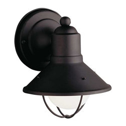 Kichler Lighting - Kichler Lighting 9021BK Seaside Lodge/Country/Rustic Outdoor Wall Light - Small - Kichler Lighting 9021BK Seaside Lodge/Country/Rustic Outdoor Wall Light - Small In Black (Painted)