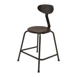 Kathy Kuo Home - Cole Industrial Reclaimed Cast Iron Dining Accent Chair - An industrial showstopper, this cast iron dining chair is the king of comfort while retaining an air of innate style. Superior craftsmanship means a steel tube frame paired with reclaimed cast iron and solid hardwood for a finish that feels at once weathered and modern. Perfect for an industrial loft space but also at home in a more streamlined modern abode, this is a chair that perfectly marries design and comfort. Grab a set for bar seating at the counter, or line them up along an oversized dining table. Dinner with a side of delectable design is served. Enjoy a one year warranty on this piece.