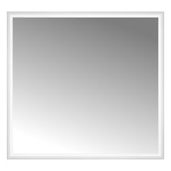 """Posters 2 Prints, LLC - 48"""" x 45"""" Rounded White Lacquer Custom Framed Mirror - 48"""" x 45"""" Custom Framed Mirror made by Posters 2 Prints. Standard glass with unrivaled selection of crafted mirror frames.  Protected with category II safety backing to keep glass fragments together should the mirror be accidentally broken.  Safe arrival guaranteed.  Made in the United States of America"""