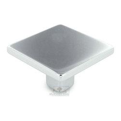 """Topex Decorative Hardware - 1 3/8"""" Small Square Knob in Bright Chrome -"""