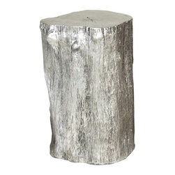 Silver Log Stool - I am a sucker for tree stumps in design, and this Log stool is one of my favorites. The gold version has been featured on Houzz before, but I couldn't resist adding the silver leaf stool as well. Cast from a real tree, it is extremely realistic.