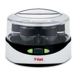 T-Fal/Wearever - T-Fal Balanced Living Yogurt Maker - The T-Fal Balanced Living Yogurt Maker features seven glass jars with lids to make the perfect serving size of homemade yogurt just the way you like it! With endless flavor options and included recipes for ideas, the yogurt maker is healthier, less expensive and less wasteful than store-bought yogurt. By simply putting a milk and a yogurt starter into the machine, you create your own homemade yogurt. Plus, with digital controls and an automatic countdown LCD timer, the yogurt maker guarantees a quick and easy snack.