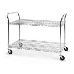 OFM - OFM 24 x 60-inch Heavy Duty Mobile Cart - This heavy duty mobile cart from OFM is perfect for transporting heavy items. Adjustable shelves and five casters complete this cart.