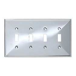 Liberty Hardware - Liberty Hardware 135882 Beverly WP Collection 8.59 Inch Switch Plate - A simple change can make a huge impact on the look and feel of any room. Change out your old wall plates and give any room a brand new feel. Experience the look of a quality Liberty Hardware wall plate. Width - 8.59 Inch, Height - 4.9 Inch, Projection - 0.3 Inch, Finish - Polished Chrome, Weight - 0.38 Lbs.