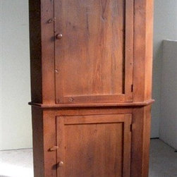Brown Cherry Corner Cabinet in Reclaimed Barn Wood - Made by http://www.ecustomfinishes.com