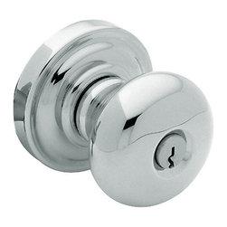 Baldwin Hardware - Baldwin Estate 5205 Classic  Door Knob Set - Keyed Entry  - Polished Chrome - 5205 Product Details: