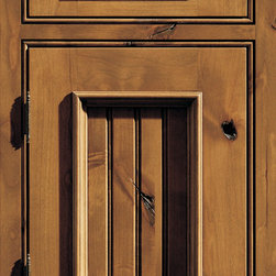 """Dura Supreme Cabinetry - Dura Supreme Cabinetry Vintage Beaded Panel Inset Cabinet Door Style - Dura Supreme Cabinetry """"Vintage Beaded Panel"""" inset cabinet door style in Knotty Alder shown with Dura Supreme's """"Sage"""" stain with """"Coffee"""" Glaze finish. (With beaded frame)"""