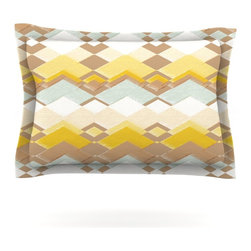 """Kess InHouse - Nika Martinez """"Retro Desert"""" Pillow Sham (Cotton, 40"""" x 20"""") - Pairing your already chic duvet cover with playful pillow shams is the perfect way to tie your bedroom together. There are endless possibilities to feed your artistic palette with these imaginative pillow shams. It will looks so elegant you won't want ruin the masterpiece you have created when you go to bed. Not only are these pillow shams nice to look at they are also made from a high quality cotton blend. They are so soft that they will elevate your sleep up to level that is beyond Cloud 9. We always print our goods with the highest quality printing process in order to maintain the integrity of the art that you are adeptly displaying. This means that you won't have to worry about your art fading or your sham loosing it's freshness."""