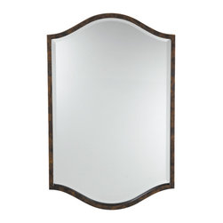 Murray Feiss - Murray Feiss MR1077WAL Drawing Room Walnut Mirror - Murray Feiss MR1077WAL Drawing Room Walnut Mirror