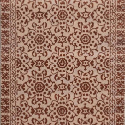 Dynamic Rugs - Dynamic Rugs Sapphire 4971-606 (Chocolate, Beige) 8' x 11' Rug - This Hand Tufted rug would make a great addition to any room in the house. The plush feel and durability of this rug will make it a must for your home. Free Shipping - Quick Delivery - Satisfaction Guaranteed