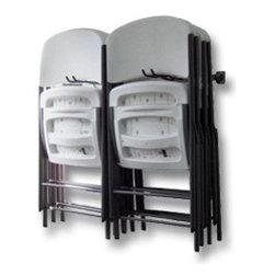 Garage Storage Racks - Folding chair rack. Keep the garage organized with specialized storage racks.