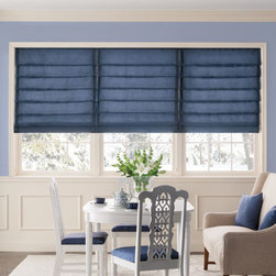 Bali - Bali Tailored Roman Shades - Solid Colors - Get inspired with Bali's premium line of soft window treatments.  This collection of roman shade styles features a wide selection of solid color fabrics with smooth or textured weaves.