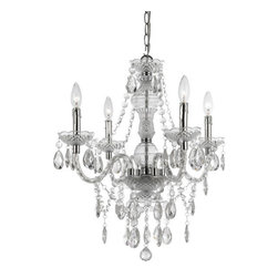 Mini Chandelier in Clear - The Mini Chandelier is available in clear and 5 more fashionable colors. This delightful beaded chandelier offers a contemporary twist to a traditional silhouette.