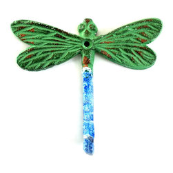 MarktSq - Dragon Fly Hook (Set of 3) - Charming aluminum hook in blue green finish. Sold as a Set of 3
