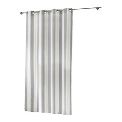 "Evideco - Woven Sheer Grommet Curtain Panels Helios, White and Gray - ""The understated elegance of this woven sheer window curtain panel HELIOS is made of 84% polyester, 9% linen and 7% viscose and provides a luxurious, decorator's look to any room and easily hang with grommets. 55""""W x 95''L and sold individually, the gentle"""