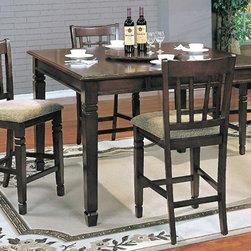 Yuan Tai Furniture - Mirage 5 Piece Pub Set - MR6130T-5SET - Set includes Pub Table, 4 Counterhieght Chairs