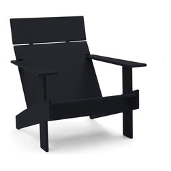 Loll Designs - Lollygagger Lounge, Black - Sometimes there's nothing wrong with letting the day get away from you. Grab a book and glide back into this breezy lounge chair. Its angled design nestles you in comfort, confirming that you're doing exactly the right thing.