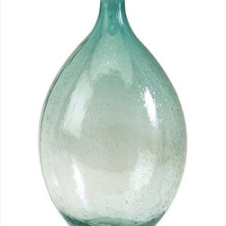 "Imax Worldwide Home - Amadour Medium Bubble Glass Bottle - The Amadour Bubble Glass Bottle features colored glass in a full, rounded shape. Full of personality and ready for you to make it your own, this vase is great alone, or for a coordinated look purchase both sizes.; Country of Origin: China; Weight: 1.4 lbs; Dimensions: 13.5""h x 7.5""d"