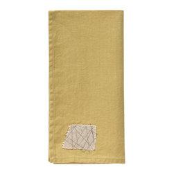 Sunbrella Performance Art's 100% Linen Napkins - Mending Patch Napkin