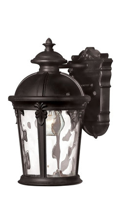 Hinkley Lighting - Hinkley Lighting Windsor Outdoor Wall Sconce X-KB0981 - Windsor combines elegant details and decorative cast detailing into its cast aluminum construction. The unique River Rock finish and clear water glass panels add to its majestic style.