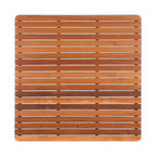 "Teakworks4u - Teak Mat with Rounded Corners (30"" x 30"") Finished - Naturally mold and mildew proof due to its high oil content, this bath mat will serve you in style for years to come. The inherent beauty of teak is sure to complement your bathroom accessories and create a perfect decorative accent. Naturally high silica content makes this piece incredibly slip resistant. Crafted with quality wood, countersunk screws and rubber footing to protect your floors, this teak mat is nothing short of an investment. Proudly made in the U.S.A.  Custom sizes available by contacting Teakworks4u."