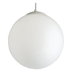 """Progress Lighting - Progress Lighting Opal Globes 14"""" Modern / Contemporary Pendant Light X-92-6044P - Simple yet fascinating, this Modern/Contemporary Pendant Light by Progress Lighting offers a clean and sleek look. The perfectly rounded Opal Glass Sphere provides an evenly diffused glow and is able to make a wonderful statement all on its own."""
