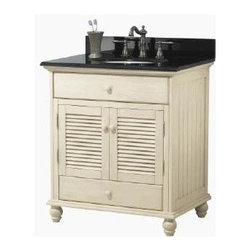 Foremost - Foremost Cottage 30in. Vanity Only, Antique White Finish, White (CTAA3022D) - Foremost CTAA3022D Cottage 30in. Vanity only, antique white finish, White