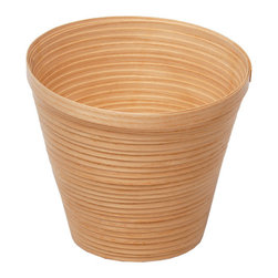 EcoFirstArt - Wooden Flower Pots - Go to pot — in the best possible way! Sustainably sourced ash and oak are steam bent to fashion these simply elegant planters, perfect for any setting, indoors or out.