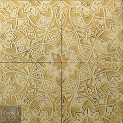 Patterson Collection - Patterson Collection low relief tile Floral Moresque.
