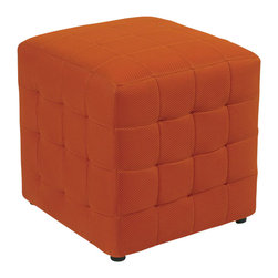"""Office Star - Office Star Detour Fabric Ottoman Cube in Orange - Office Star - Ottomans - DTR1518 - Love the new fresh colored ottoman to match your own style or room. Comes in several different bright colors. Ave Six Detour 15"""" Fabric Cube"""