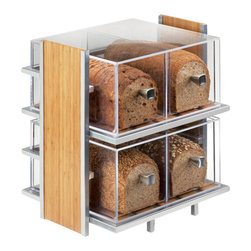 Cal Mil - 14W x 11.5D x 15H Eco Modern Bread Case 1 Ct - Showcase your freshly baked goods and breads with this beautifully made eco modern bread case It features a metal frame accompanied by an accent of bamboo to freshen things up. This bread case is the perfect way to brighten up your cafe bakery or food service area