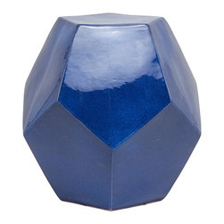 Made Goods Cole Stool, Cobalt - For a few favorite stems, this vase is absolutely perfect! Black-eyed Susans or sunflowers would be an ideal contrast against the beautiful cobalt color.
