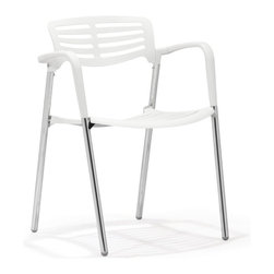 Zuo Modern - Zuo Modern Scope Modern Dining Chair (Pack of 4) X-361005 - Tired of not having enough color in your home, well look no further. The Scope dining chair is the perfect remedy to a drab place. The seat is 100% plastic with a sturdy chrome base. The chair is stackable for ease of storage.